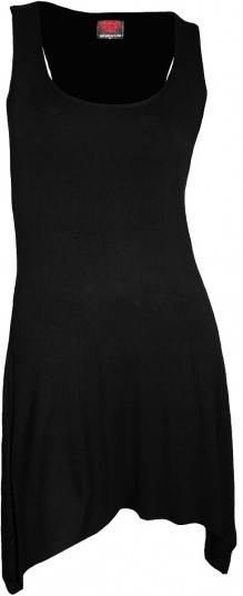 Femme robe - Goth Bottom Camisole Dress Black