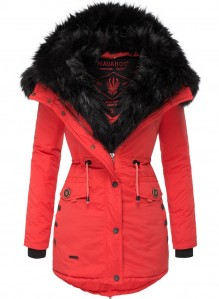 Parka femme d'hiver Navahoo SWEETY - Rouge