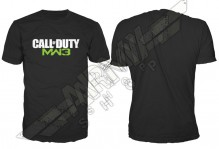 T-shirt Call Of Duty Black, MW3 Logo Mens