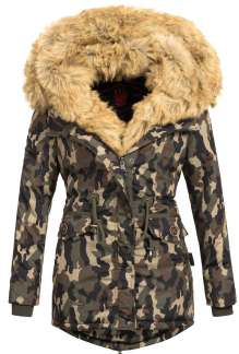 Parka femme d'hiver Navahoo SWEETY - Woodland camouflage