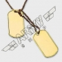 US dog tag set - Or